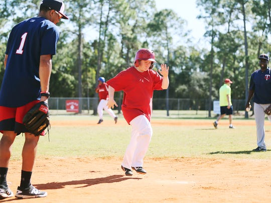 Scenes from a Minnesota Twins youth baseball clinic recently at Three Oaks Park in Fort Myers.