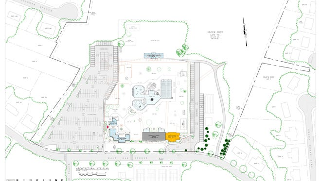 Rendering of Ramsey's proposed community-senior center.