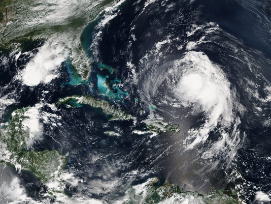 EPA SPACE ATLANTIC OCEAN WEATHER HURRICANE JOSE WEA WEATHER --- AT
