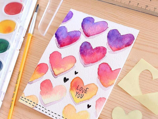 Watercolor can be a fun and relaxing medium to get crafty with.