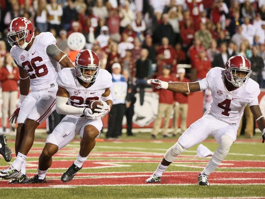 NCAA Football: Alabama at Arkansas