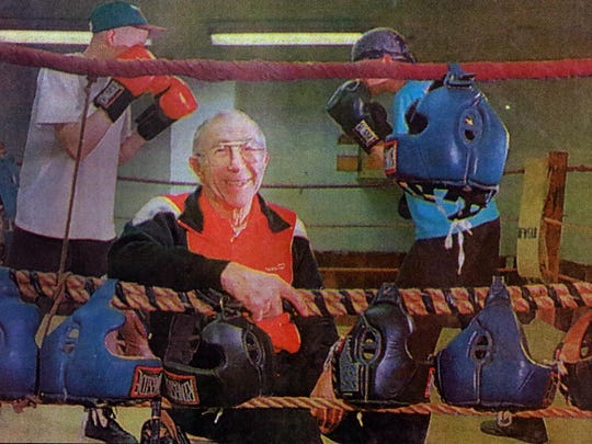 Flossy Gust is shown in a 1995 News-Herald Media file photo at the Gust Gym in Marshfield.