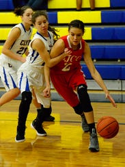 SJCC's Adrienne Wehring scored 20 points Tuesday.