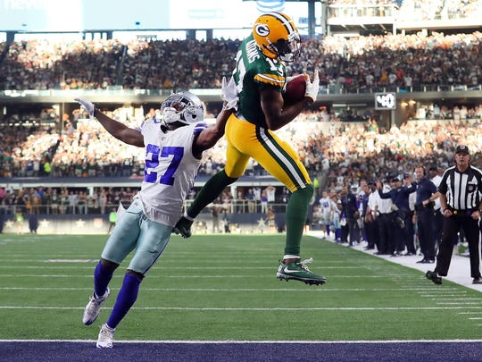 Packers receiver Davante Adams secures the game-winning