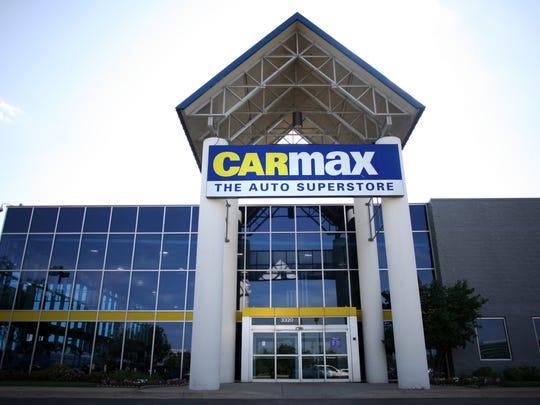 A CarMax used-car dealership in Illinois.