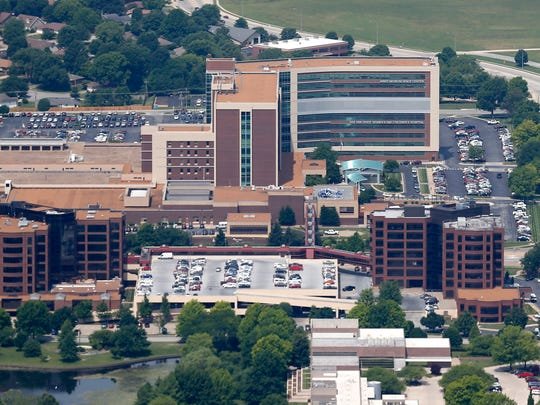 Cox South Hospital from the air on Friday, June 9, 2018.