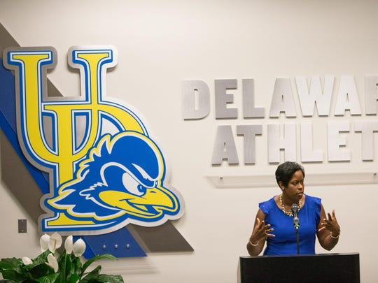 The University of Delaware introduce new women's basketball head coach Natasha Adair.