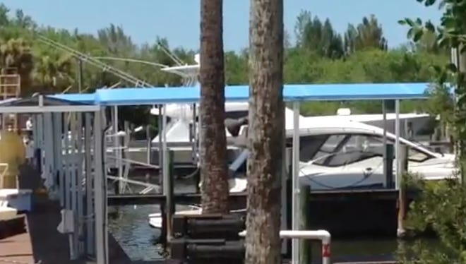 Four people were rushed to a nearby hospital after Brevard County Fire Rescue crews investigating reports of carbon monoxide poisoning boarded an anchored, 35-foot long boat in the barge canal.