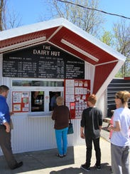 The Dairy Hut drew a crowd on its opening day. Some