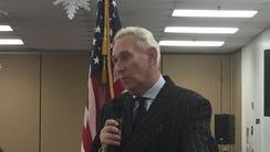 Republican operative Roger Stone extols President Trump