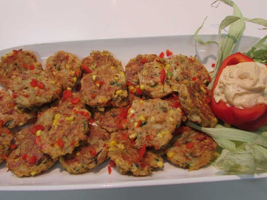 Corn and crab cakes