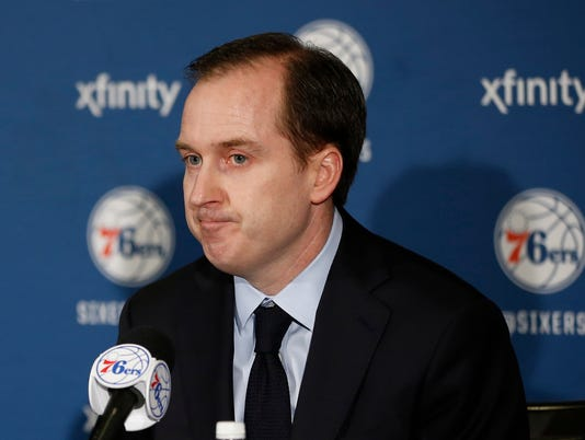 AP 76ERS HINKIE QUITS BASKETBALL S BKN FILE USA PA