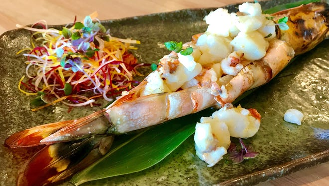 The Whole Tiger Prawn grilled selection features prawn meat tossed in Asian citrus butter at Namba Ramen & Sushi restaurant, which opened Friday, Jan. 12, in the Marketplace at Pelican Bay on the southwest corner of U.S. 41 and Vanderbilt Beach Road in North Naples.