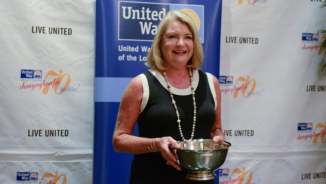 Susan Purnell, owner of Kuhn's Jewelers, was honored with the 2016 Jim Barrett Community Leadership Award on Friday, June 16, 2017 during the United Way 72nd Annual Meeting & Community Celebration held at the University of Maryland Eastern Shore in Princess Anne.