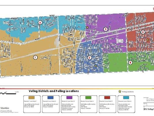wsd ward map