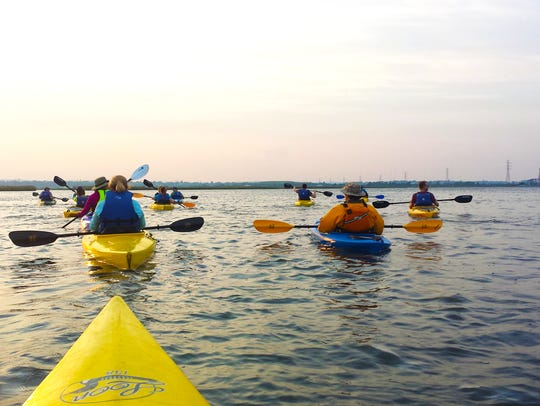 Kayaking in the Meadowlands.