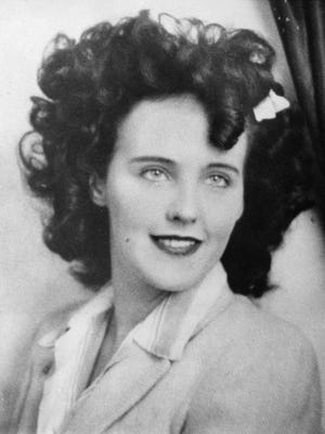 "Actress Elizabeth Short, known as ""Black Dahlia,"" is seen in this undated file photo.  Short died at age 22, her slain body found in a Los Angeles parking lot on Jan. 15, 1947."
