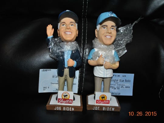 Joe Biden Wilmington Blue Rocks bobbleheads