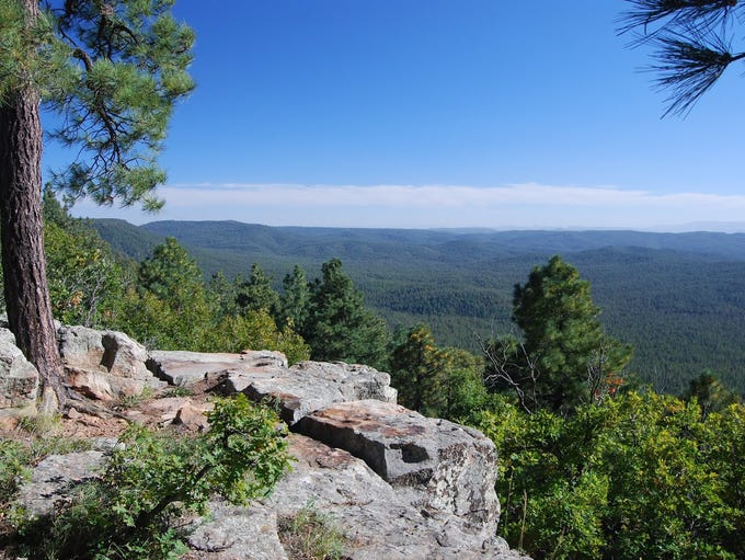 View from the Rim Lakes Vista Trail near Payson.
