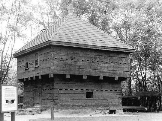 This blockhouse in Fort Kent, Maine, was built in 1839 and is similar to the one that was in Greensboro. Photo was taken in 1973.