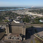 The landmark, but empty, Michigan Central Station in Detroit is owned by Manuel (Matty) Moroun.