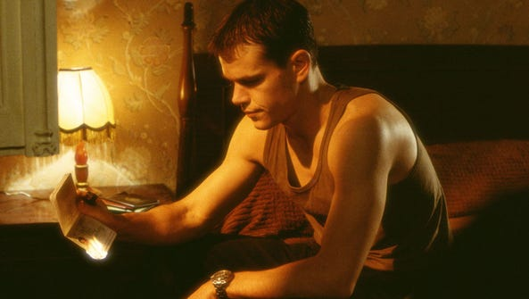 Jason Bourne (Matt Damon) contemplates the clues that