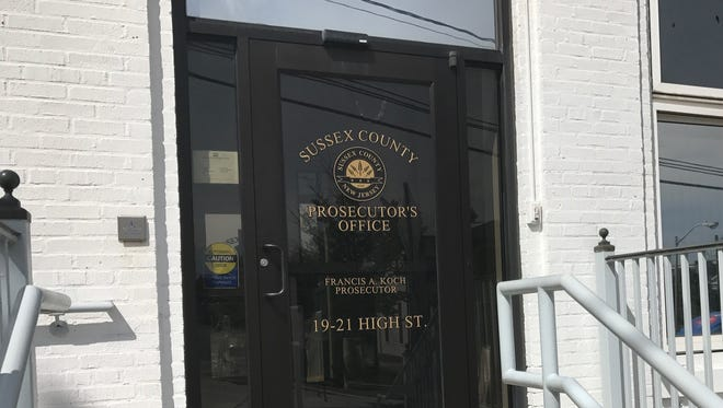 Entrance to the Sussex County Prosecutor's Office in Newton