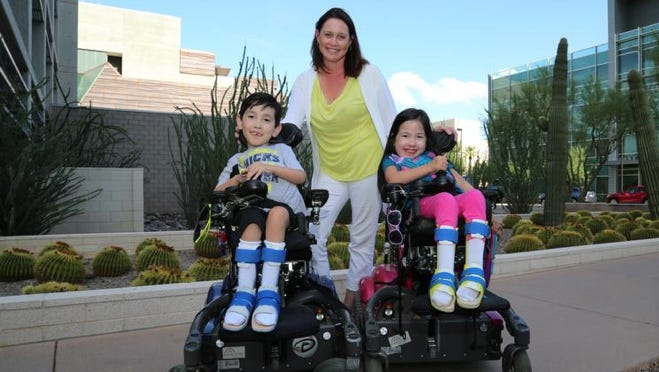 Cassandra Bryd of Phoenix has 7-year-old twins, Kyle and Lauren, who have SMA.