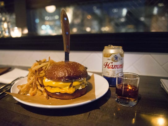 Grey Ghost's late-night menu combines a burger, fries,