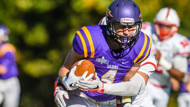 Brendan Buisch, a Hornell graduate, is a threat to score when he has the ball. he has nearly 1,000 yards receiving and 14 touchdowns this season.