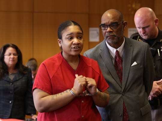 Mitchelle Blair sought to plead guilty Friday, June 19, 2015, to murder charges in the deaths of two of her children.