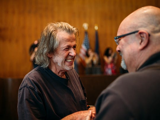 Dave Daily, 66, and John Stevens, 63, of Detroit were together for more than 30 years before marriage at the Coleman A. Young Center on June 26, 2015.