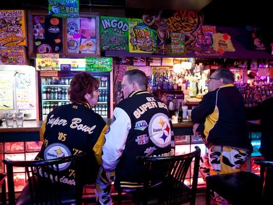 Carol Motsinger searches Pittsburgh for Bengals fans.