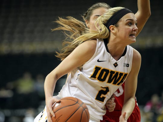 Iowa's Ally Disterhoft is nearing the school record