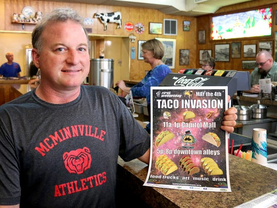 Ross Swartzendruber is promoting a Taco Invasion for First Wednesday this week.