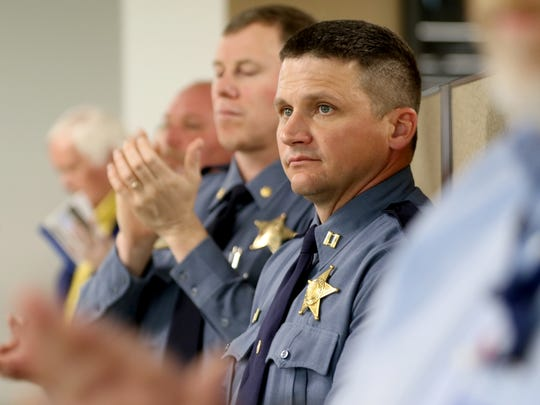 Oregon State Police spokesman Capt. Bill Fugate has resigned after pleading guilty to domestic violence charges.