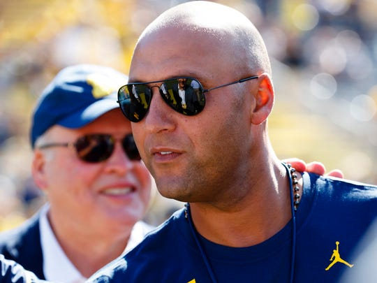 Sep 3, 2016; Ann Arbor, MI, USA; Derek Jeter is seen