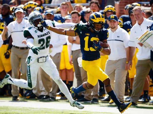 NCAA Football: Hawaii at Michigan