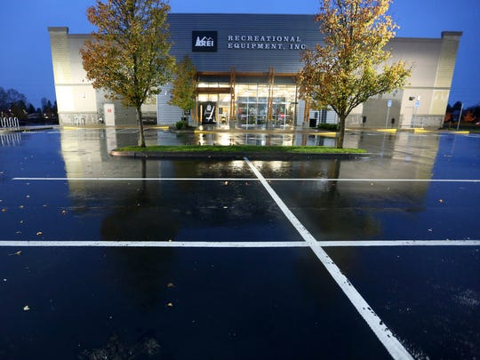 REI, hoping to encourage people to enjoy the outdoors, is closed during Black Friday shopping at Keizer Station on Friday, Nov. 25, 2016