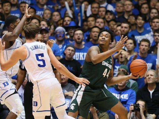 NCAA Basketball: Michigan State at Duke