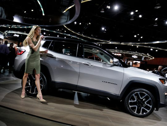 Jeep narrator Victoria Fary works  the 2017 Jeep Compass