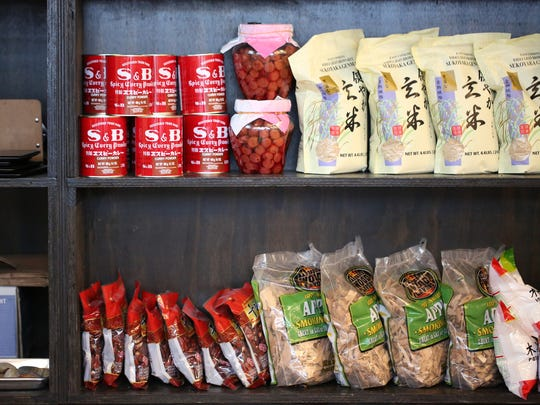 Japanese ingredients line the shelves at Ima in Detroit's Corktown neighborhood.