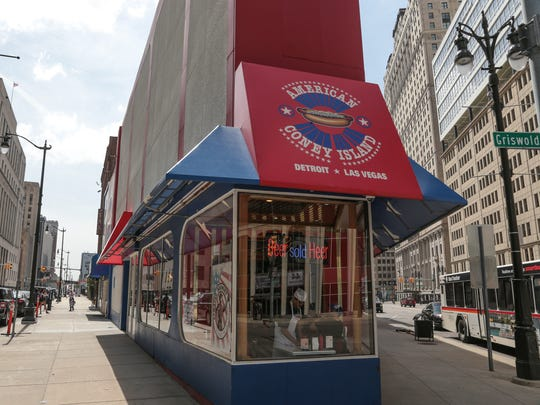 American Coney Island in downtown Detroit is seen on