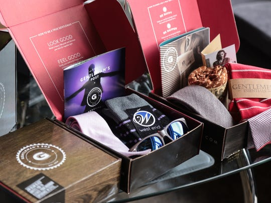 A selection of items are seen in a box by Gentleman's
