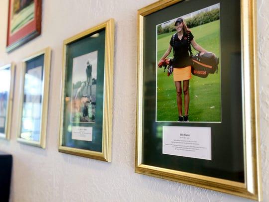 A portrait of Ellie Slama at Salem Golf Club on Wednesday,