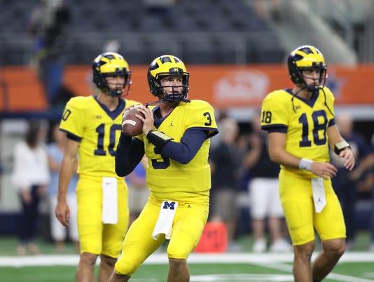 Wolverines vs. Gators, michigan quarterbacks, speight peters o'korn