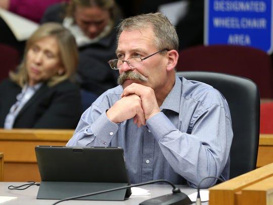 City Councilor Brad Nanke listens during a Salem City Council meeting on Monday, Sept. 25, 2017.