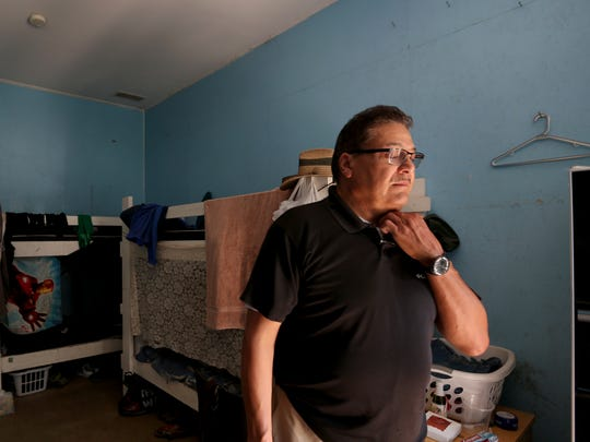 Ramon Ramirez, the president of PCUN: Pineros y Campesinos Unidos del Noroeste (Northwest Treeplanters and Farmworkers United), has been an advocate for farm workers for nearly forty years in Woodburn, Ore. Photographed in a temporary cabin for migrant farmworkers in Woodburn on Wednesday, Aug. 9, 2017.