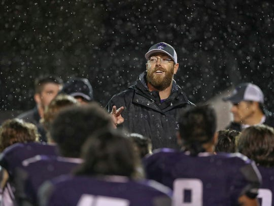 Shasta High School head football coach J.C. Hunsaker