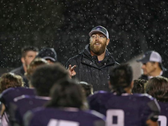 Shasta High School head football coach J.C. Hunsaker is this year's R.S.V.P. coach of the year. He took his team to the Division 3-AA state championship, where the Wolves fell to Bishop Diego in Thousand Oaks.